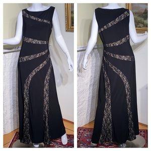 Ralph Lauren Sleeveless Floor Length Evening Gown